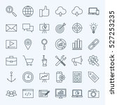 line seo icons. vector... | Shutterstock .eps vector #527253235