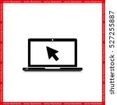 laptop icon vector illustration ...   Shutterstock .eps vector #527255887