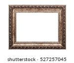 very old wooden frame. isolated ... | Shutterstock . vector #527257045