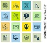 set of 16 universal editable... | Shutterstock .eps vector #527262619