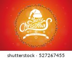 merry christmas with abstract... | Shutterstock .eps vector #527267455