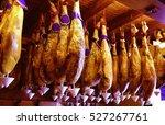 salamanca jamon iberico iberian ... | Shutterstock . vector #527267761
