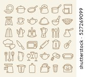 set of modern thin line icons... | Shutterstock .eps vector #527269099