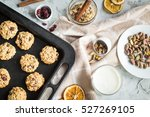 oatmeal cookies with... | Shutterstock . vector #527269105