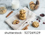 oatmeal cookies with cranberries | Shutterstock . vector #527269129