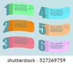 business infographics tabs... | Shutterstock .eps vector #527269759