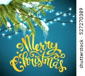 merry christmas card with... | Shutterstock .eps vector #527270389