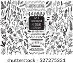 hand drawn vintage floral... | Shutterstock .eps vector #527275321