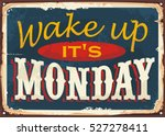 vintage vector tin sign design... | Shutterstock .eps vector #527278411