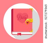 diary with lock flat design... | Shutterstock .eps vector #527279365
