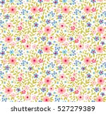 Cute Floral Pattern In The...
