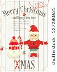 christmas and new year card....   Shutterstock .eps vector #527280625