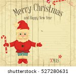 christmas and new year card....   Shutterstock .eps vector #527280631