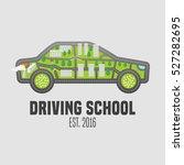 driving license school vector... | Shutterstock .eps vector #527282695