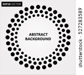 black abstract halftone logo... | Shutterstock .eps vector #527283589