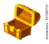 treasure chest for game. wooden ... | Shutterstock .eps vector #527283715