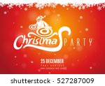 christmas party with dj santa... | Shutterstock .eps vector #527287009