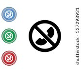 web icon. calls banned ... | Shutterstock .eps vector #527293921