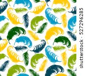 vector seamless pattern with... | Shutterstock .eps vector #527296285