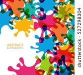 illustration of splash abstract ... | Shutterstock .eps vector #527298304