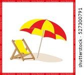 beach umbrella and chair icon... | Shutterstock .eps vector #527300791