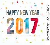vector happy new year 2017 | Shutterstock .eps vector #527301649