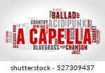 acapella. word cloud  type font ...   Shutterstock .eps vector #527309437