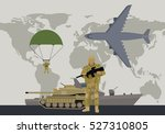 different types of armed forces.... | Shutterstock .eps vector #527310805