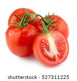 tomatoes with water drops... | Shutterstock . vector #527311225