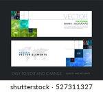 vector set of modern horizontal ... | Shutterstock .eps vector #527311327