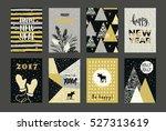 set of artistic creative merry... | Shutterstock .eps vector #527313619