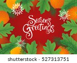 decorative leaves background... | Shutterstock .eps vector #527313751