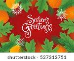 decorative leaves background... | Shutterstock .eps vector #527313751