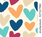 seamless pattern with funny... | Shutterstock .eps vector #527317984