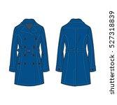 women classic trench coat... | Shutterstock .eps vector #527318839