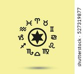 circle with signs of zodiac. | Shutterstock . vector #527319877