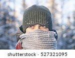 portrait of a young man wrapped ... | Shutterstock . vector #527321095
