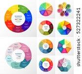 vector circle infographic set.... | Shutterstock .eps vector #527322241