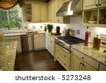 kitchen and island with modern... | Shutterstock . vector #5273248