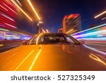 the car moves at great speed at ... | Shutterstock . vector #527325349
