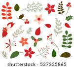vector set of christmas foliage ... | Shutterstock .eps vector #527325865