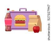 healthy school lunch  student... | Shutterstock .eps vector #527327947