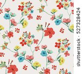seamless floral pattern in... | Shutterstock .eps vector #527328424