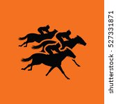 Horse Ride Icon. Orange...