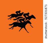 Horse Ride Icon. Orange...
