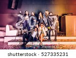 multi ethnic group of friends... | Shutterstock . vector #527335231