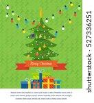 festive new year's atmosphere ... | Shutterstock .eps vector #527336251