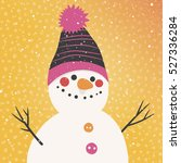christmas vector card with a... | Shutterstock .eps vector #527336284