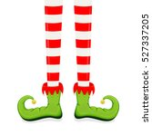 elf legs in green shoes... | Shutterstock . vector #527337205