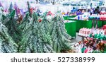 colored christmas toys in store.... | Shutterstock . vector #527338999
